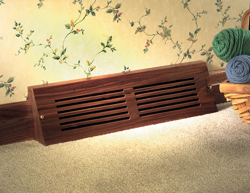 Baseboard Style Registers - Floor Models » All American Wood Register - Manufacturing & Supply